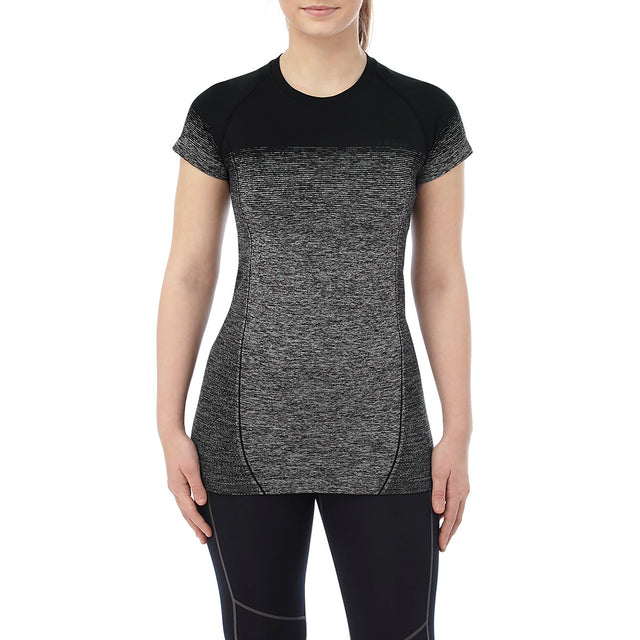 Nada Womens Seamless Performance T-Shirt - Black Gradient image 2