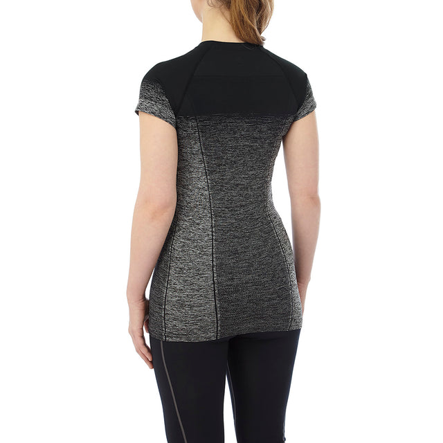 Nada Womens Seamless Performance T-Shirt - Black Gradient image 3