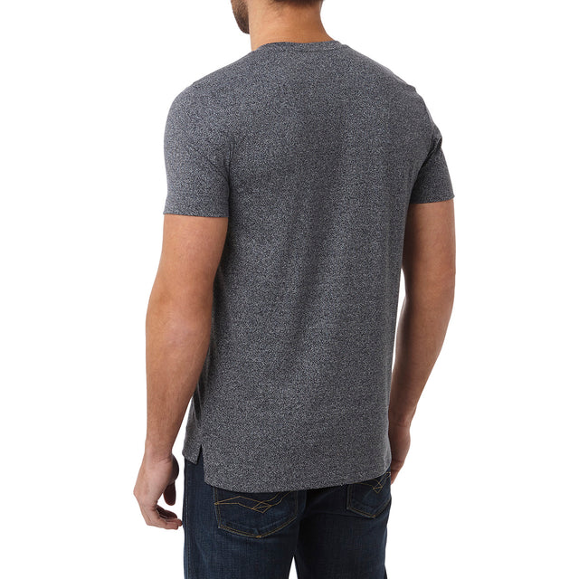 Narrick Mens T-Shirt - Navy Marl image 3