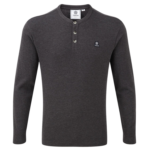 Ned Mens Long Sleeve T-Shirt - Dark Grey Marl image 1