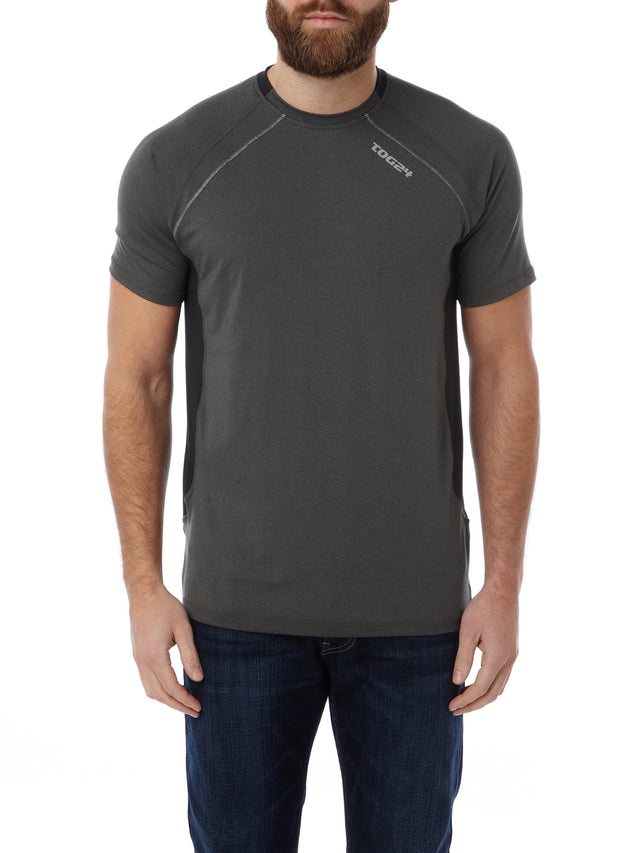 Neven Mens TCZ Stretch T-Shirt - Dark Grey Marl image 2