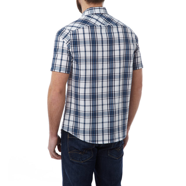 Oliver Mens TCZ Cotton Shirt - Faded Navy Check image 3