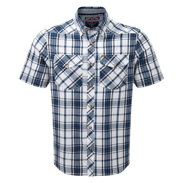 Oliver Mens TCZ Cotton Shirt - Faded Navy Check image 1