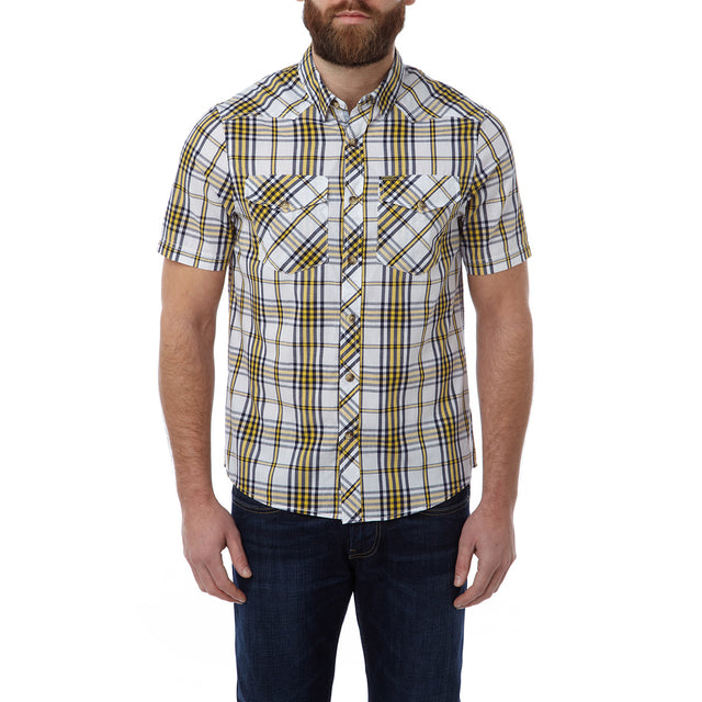 Oliver Mens TCZ Cotton Shirt - Citrus Check image 2