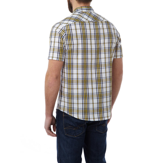 Oliver Mens TCZ Cotton Shirt - Citrus Check image 3