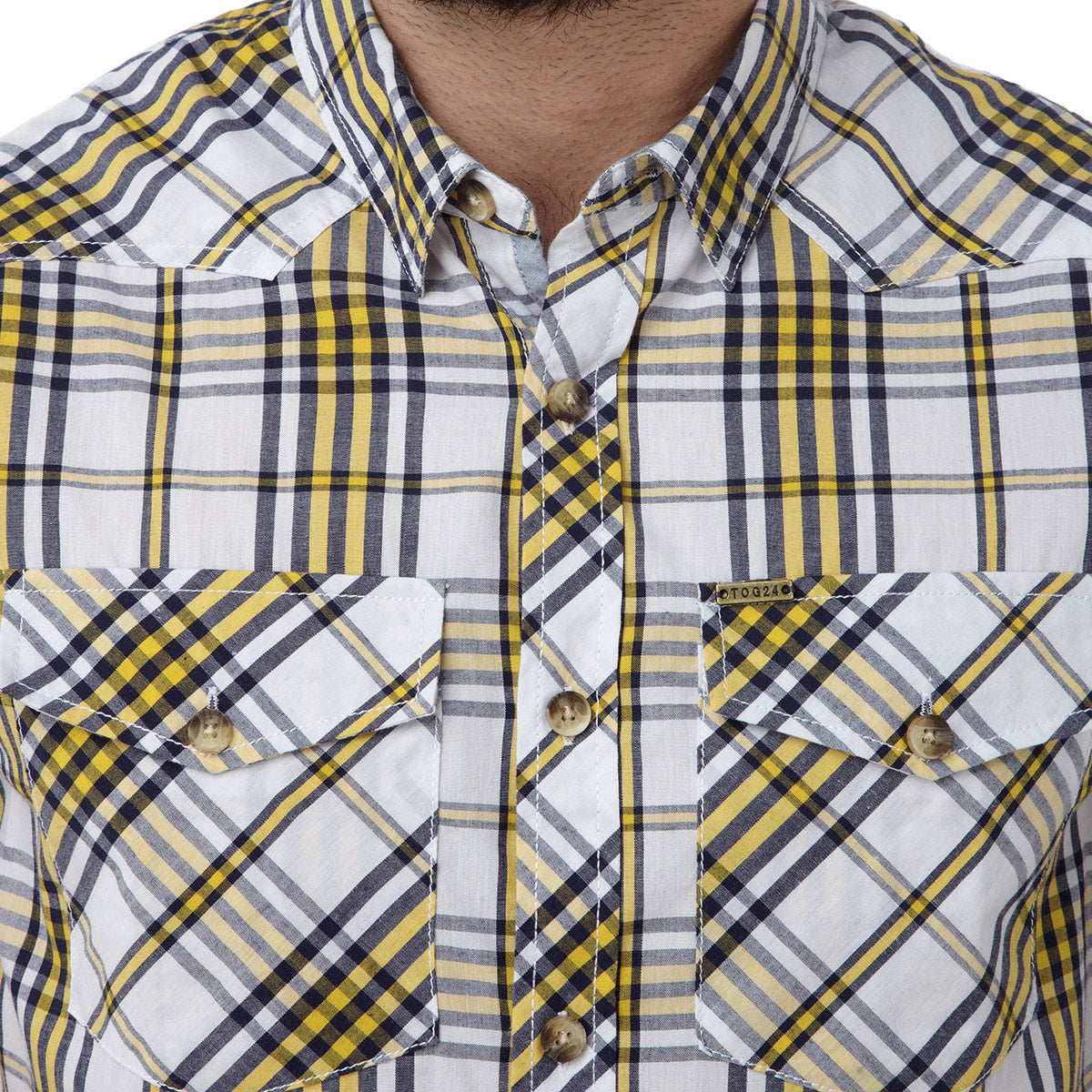 Oliver Mens TCZ Cotton Shirt - Citrus Check image 4