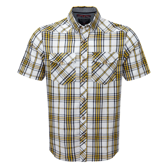 Oliver Mens TCZ Cotton Shirt - Citrus Check image 1