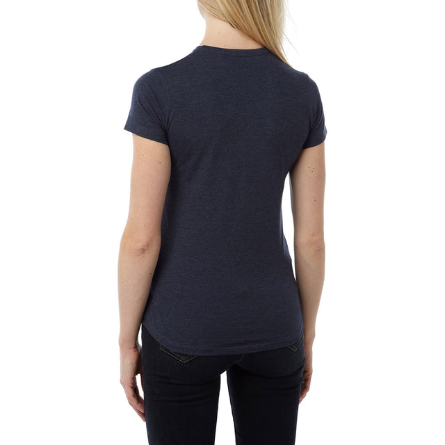 Olivia Womens T-Shirt Camp Fire Vibes - Navy Marl image 3