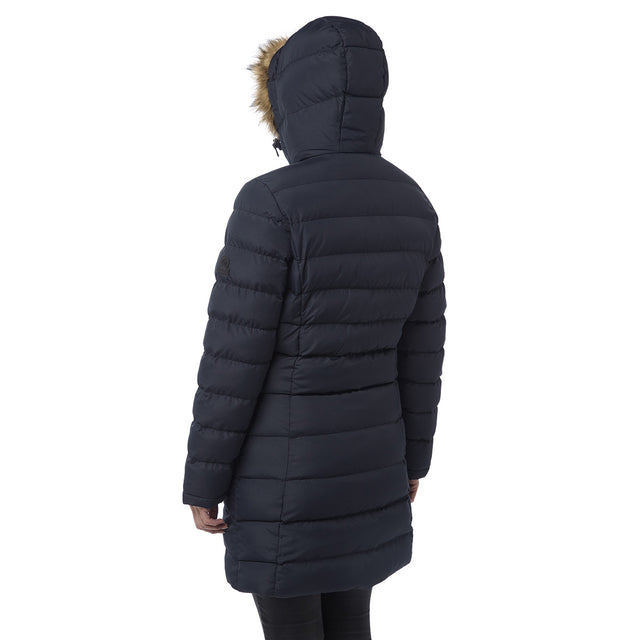 Otley Womens Long Insulated Jacket - Navy image 3