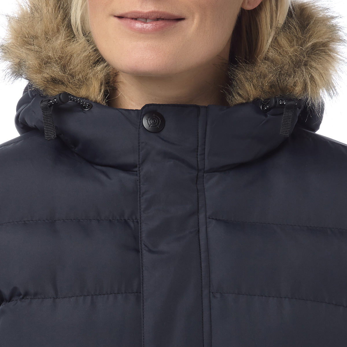 Otley Womens Long Insulated Jacket - Navy image 4