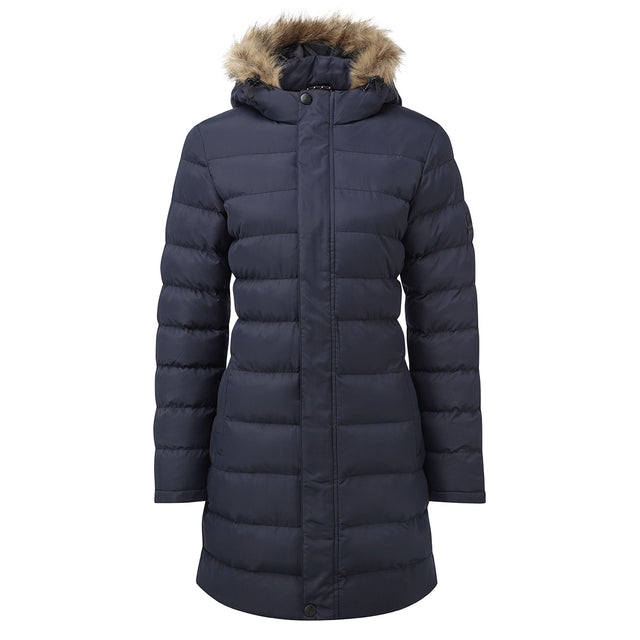 Otley Womens Long Insulated Jacket - Navy image 1