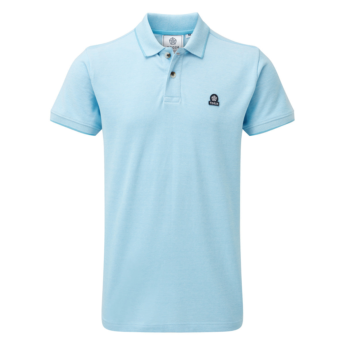 Patrick Mens Stripe Polo Shirt - Light Blue image 4