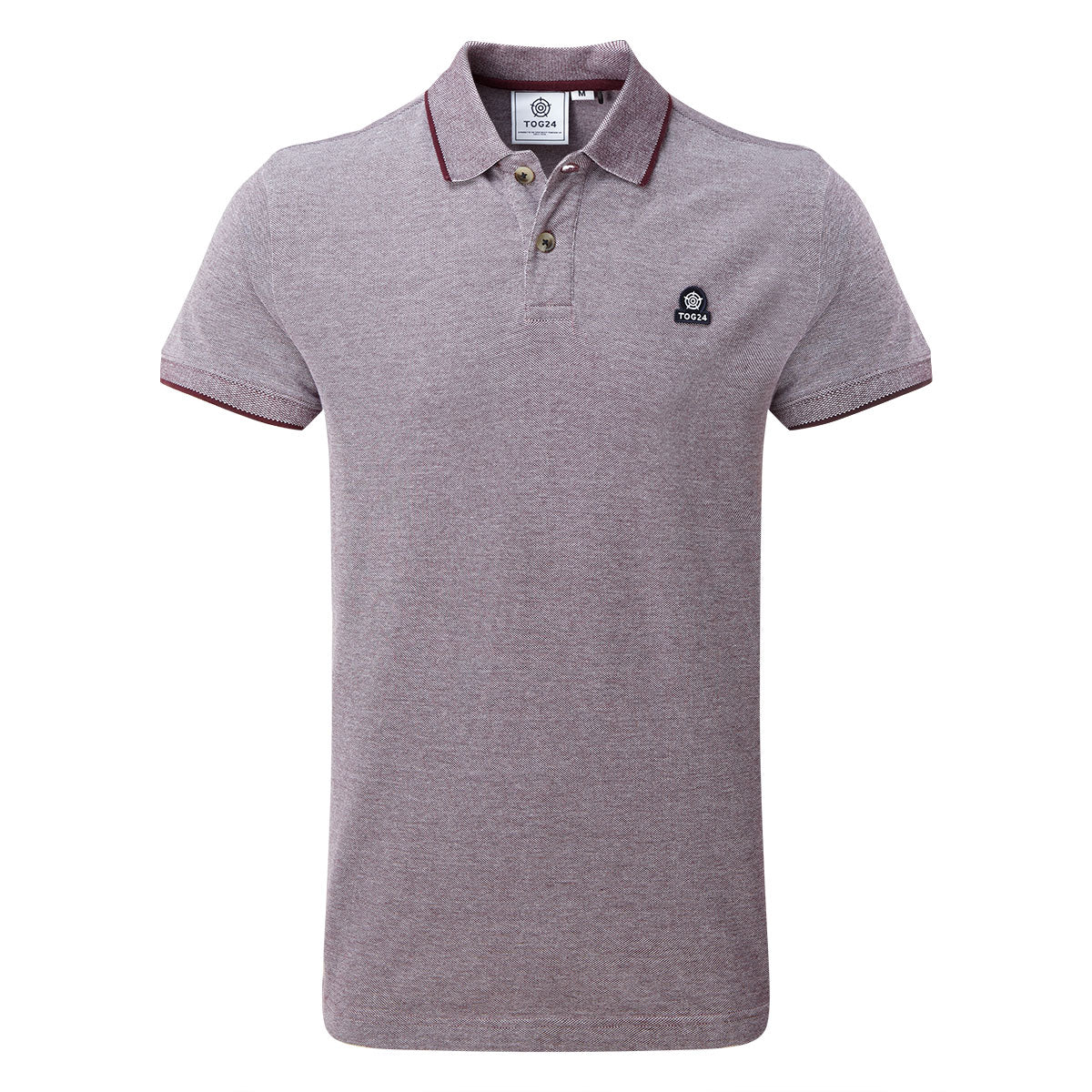 Patrick Mens Stripe Polo Shirt - Deep Port