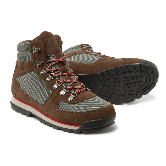 Penyghent Mens Waterproof Boots - Brown/Khaki/Red image 1