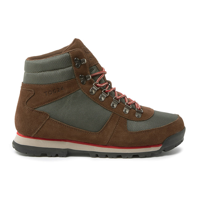 Penyghent Mens Waterproof Boots - Brown/Khaki/Red image 2