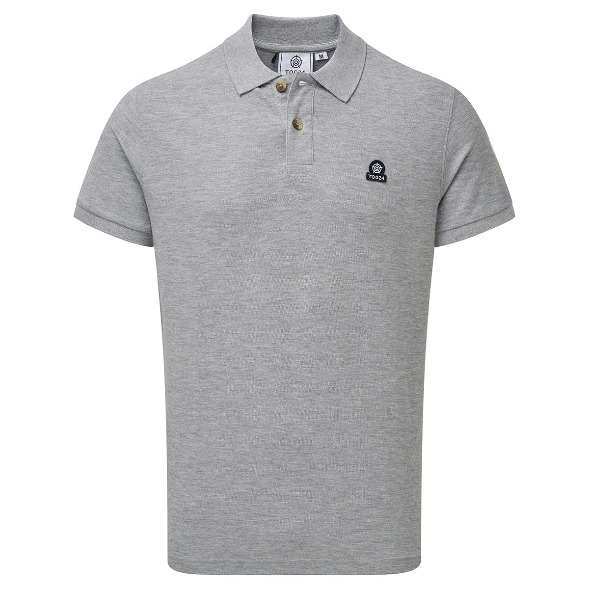 Percy Mens Pique Polo Shirt - Grey Marl image 4