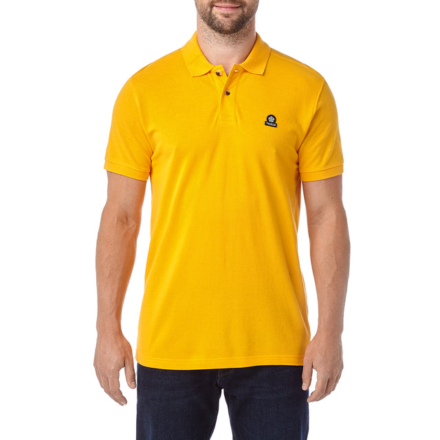 Percy Mens Pique Polo Shirt - Citrus image 2