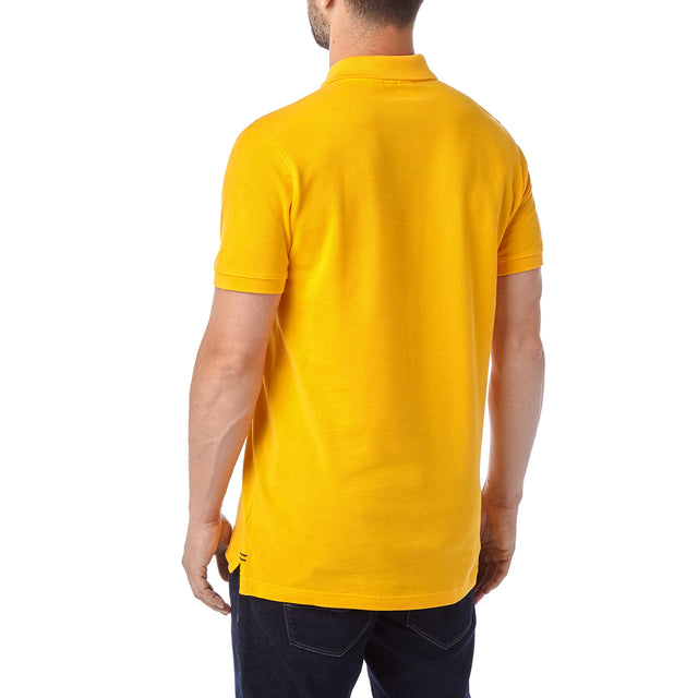 Percy Mens Pique Polo Shirt - Citrus image 3