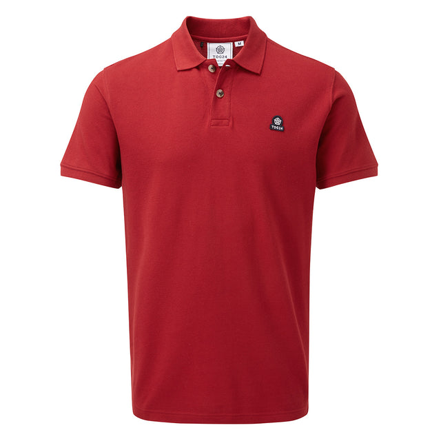 Percy Mens Pique Polo Shirt - Chilli Red image 3