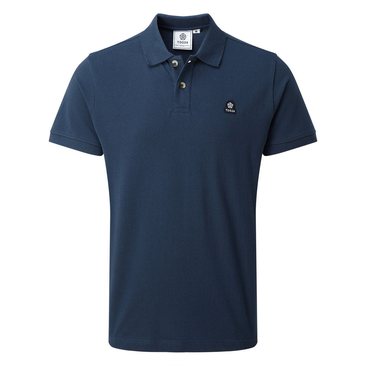 Percy Mens Pique Polo Shirt - Naval Blue