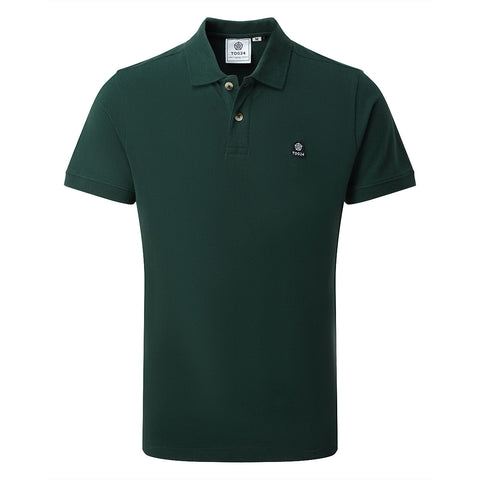 Percy Mens Pique Polo Shirt - Forest Green