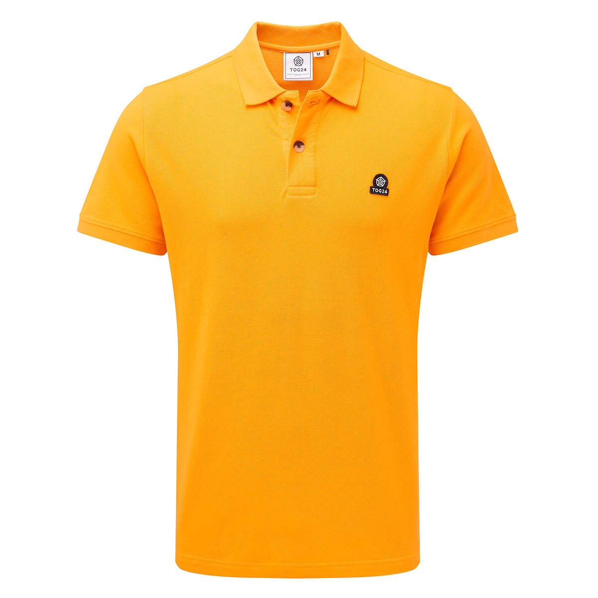 Percy Mens Pique Polo Shirt - Buttercup image 4