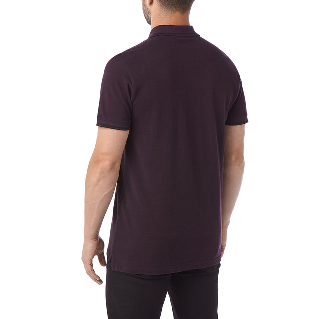 Peyton Mens Pique Polo Shirt - Deep Port image 3