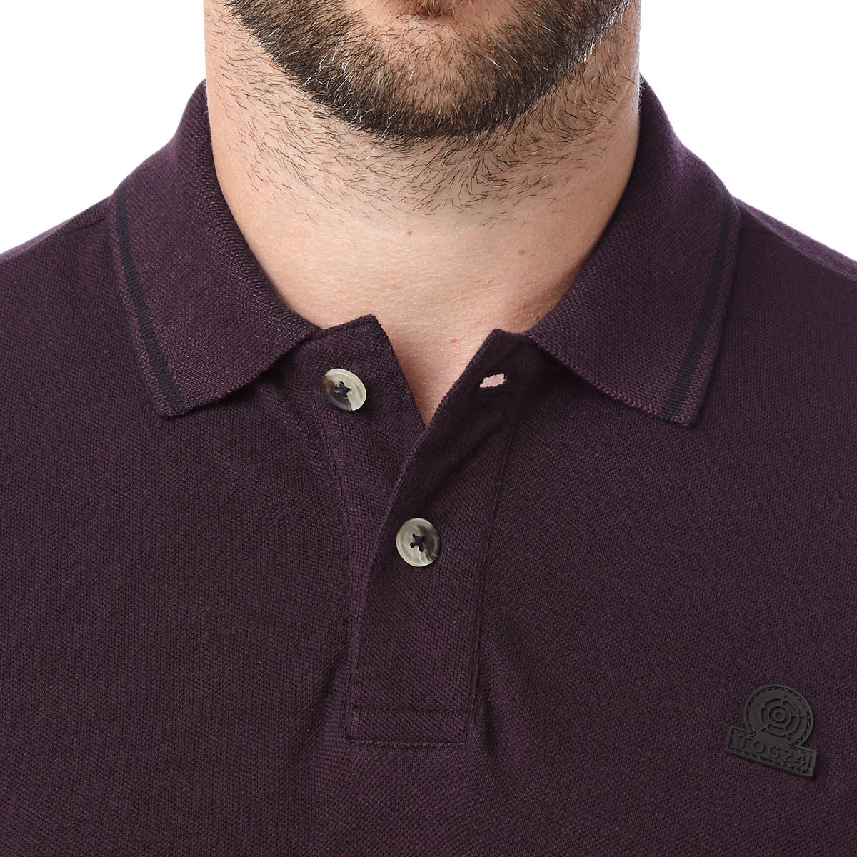 Peyton Mens Pique Polo Shirt - Deep Port image 4