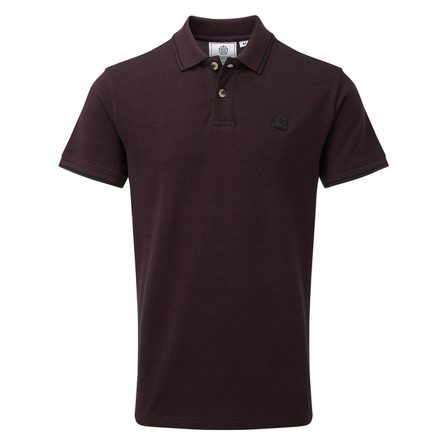 Peyton Mens Pique Polo Shirt - Deep Port image 1