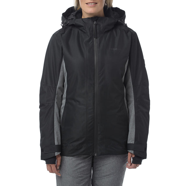 Piper Womens Waterproof Insulated Ski Jacket - Black/Grey Marl image 2
