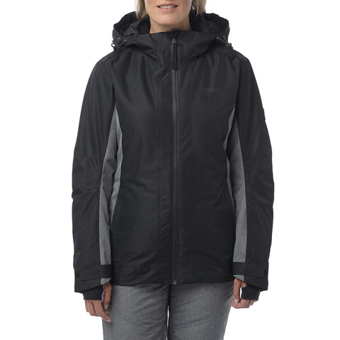 Piper Womens Waterproof Insulated Ski Jacket - Black/Grey Marl