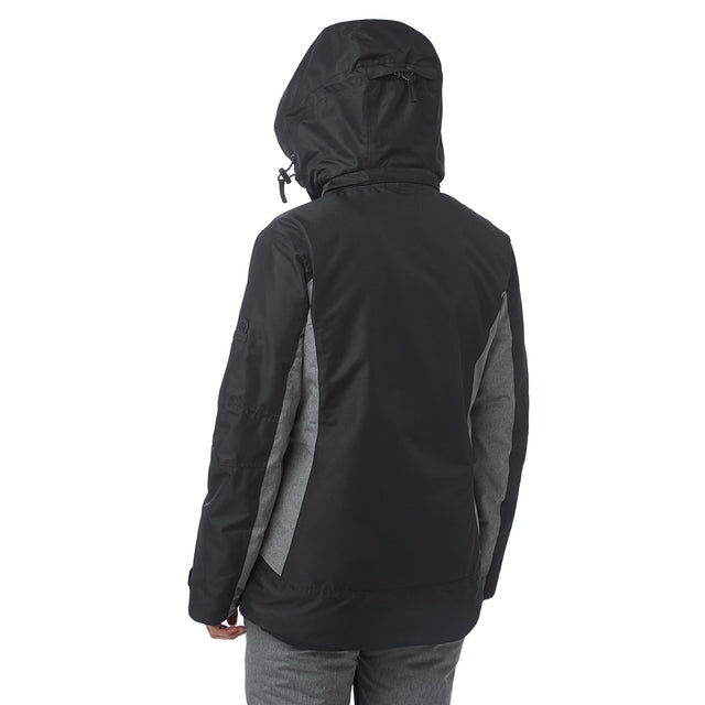 Piper Womens Waterproof Insulated Ski Jacket - Black/Grey Marl image 3