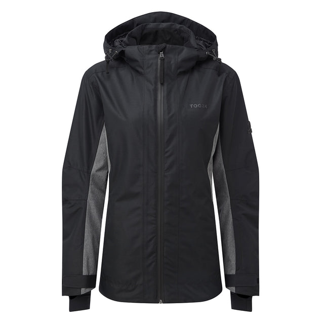 Piper Womens Waterproof Insulated Ski Jacket - Black/Grey Marl image 1