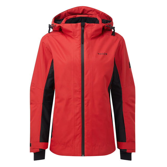 Piper Womens Waterproof Insulated Ski Jacket - Rouge Red/Black image 5
