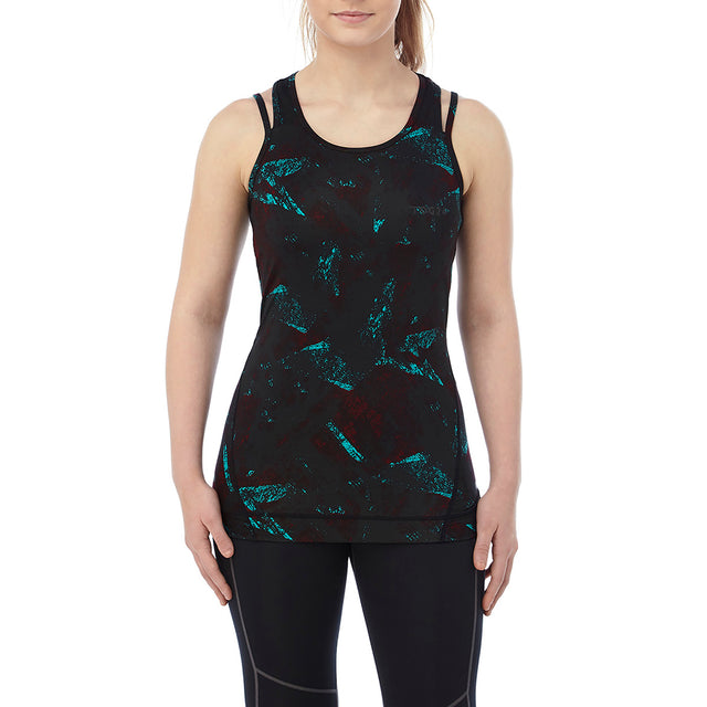 Poise Womens Stretch Performance Vest - Black Print image 2