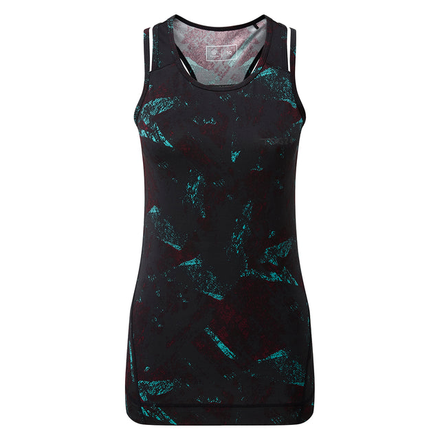 Poise Womens Stretch Performance Vest - Black Print image 1
