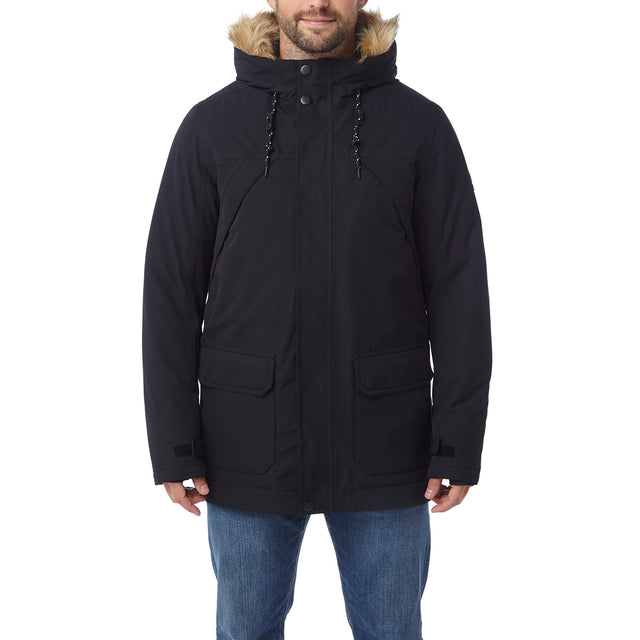 Premium Mens Waterproof Down Filled Parka - Black image 2