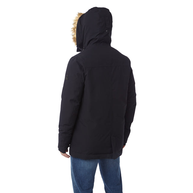 Premium Mens Waterproof Down Filled Parka - Black image 3