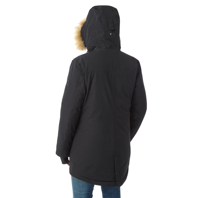 Premium Womens Waterproof Down Filled Parka - Black image 3