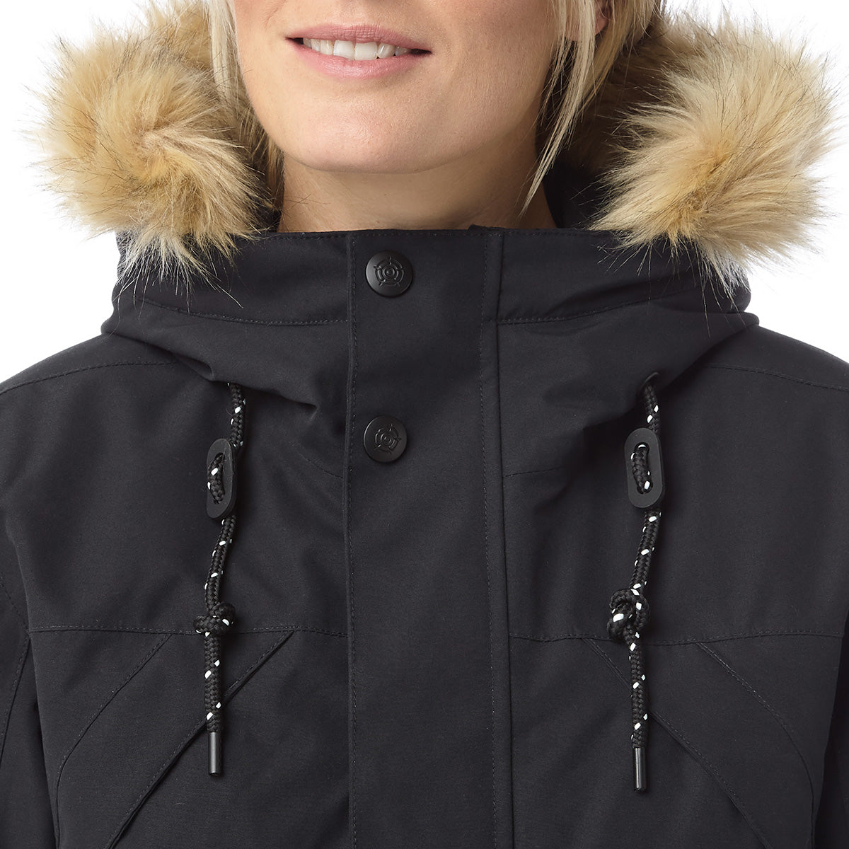 Premium Womens Waterproof Down Filled Parka - Black image 4