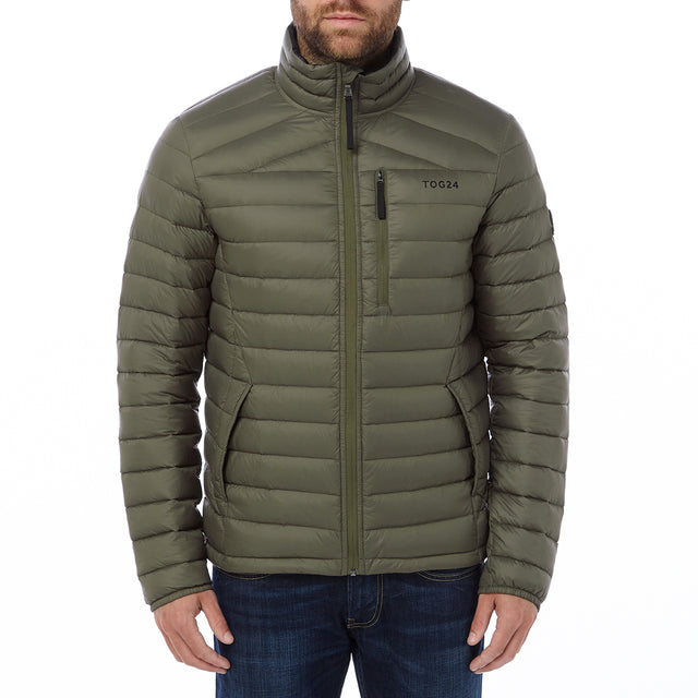 Prime Mens Down Jacket - Dark Khaki image 2