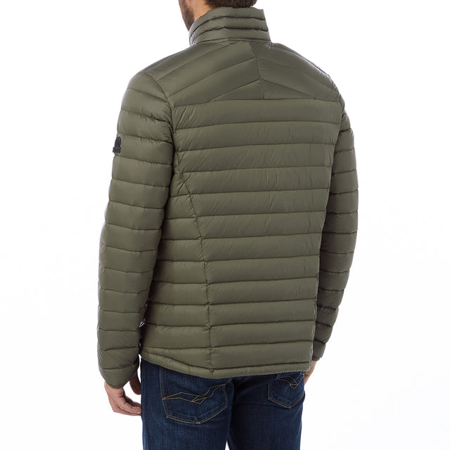 Prime Mens Down Jacket - Dark Khaki image 3