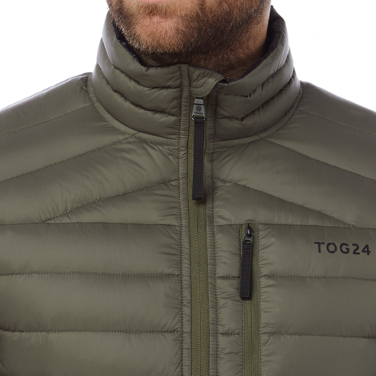 Prime Mens Down Jacket - Dark Khaki image 4