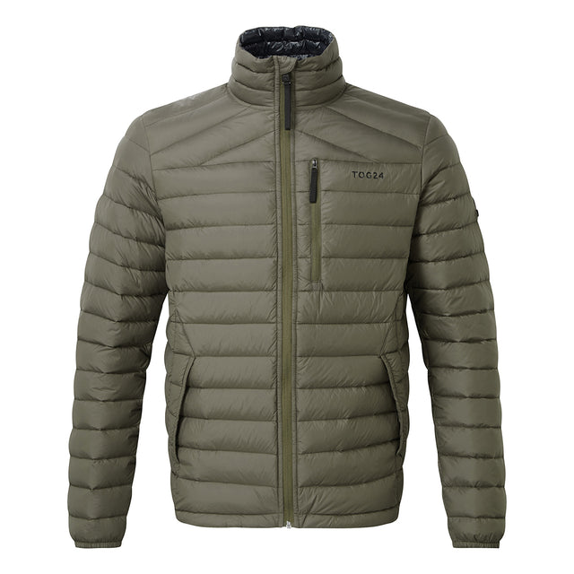 Prime Mens Down Jacket - Dark Khaki image 1