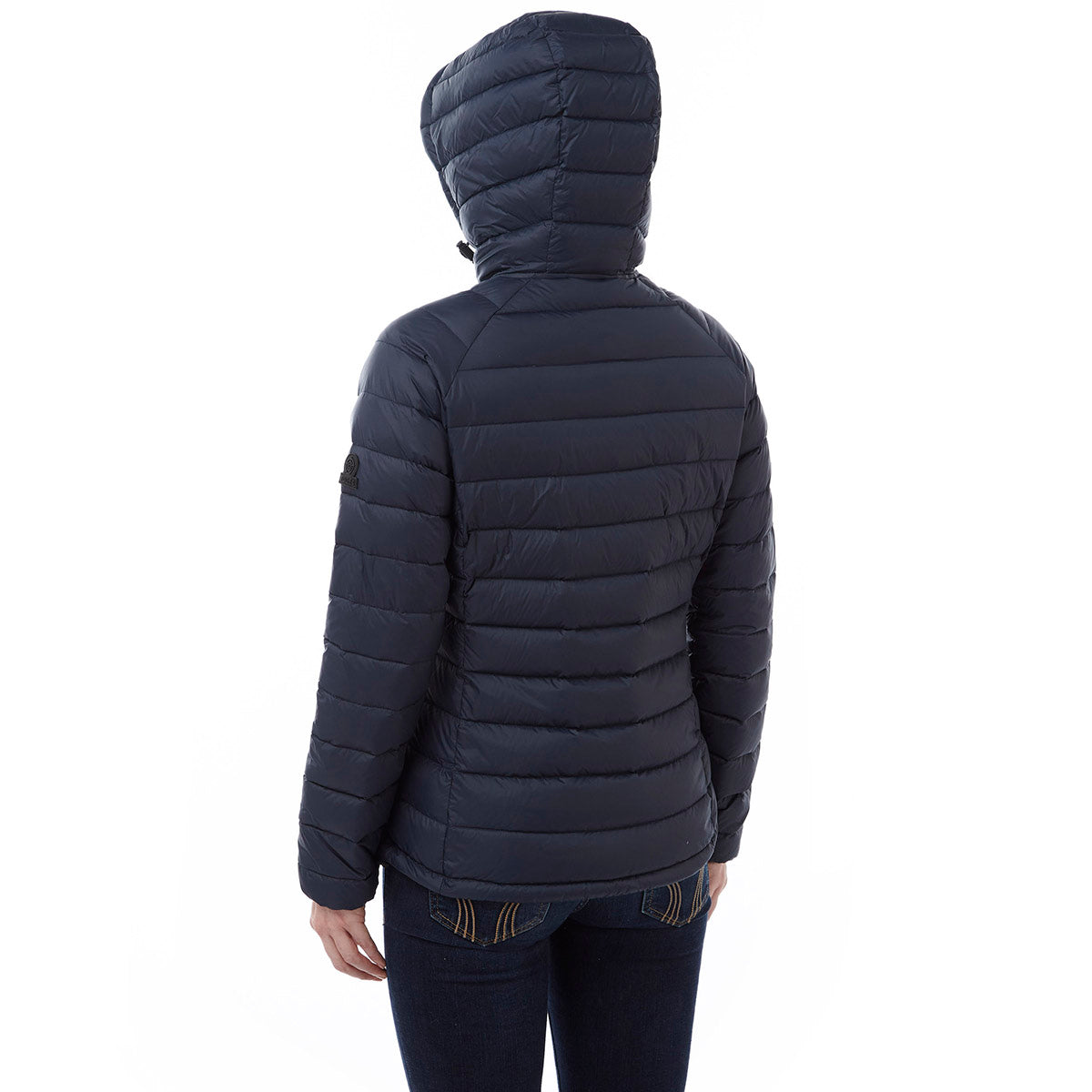 Pro Womens Down Hooded Jacket - Navy image 4