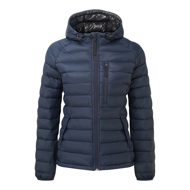 Pro Womens Down Hooded Jacket - Navy image 1