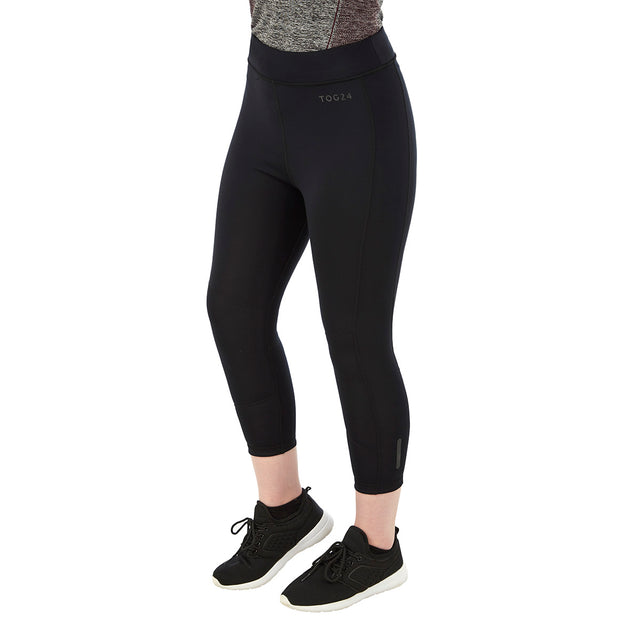 Raid Womens Reversible Performance Leggings - Black/Grey Marl image 2
