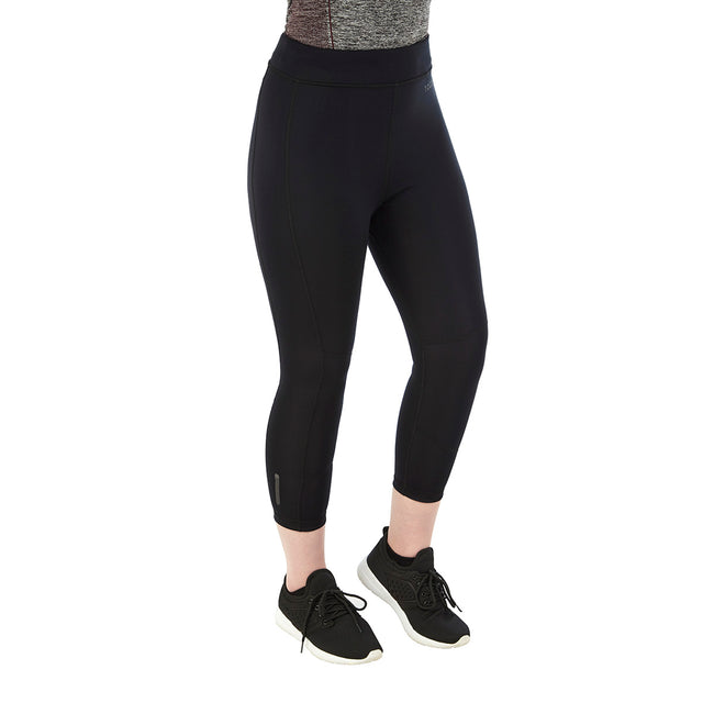 Raid Womens Reversible Performance Leggings - Black/Grey Marl image 3