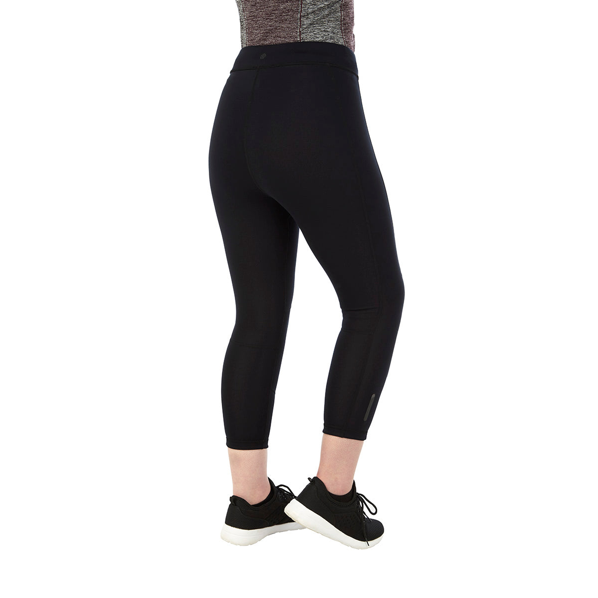 Raid Womens Reversible Performance Capris - Black/Grey Marl image 4