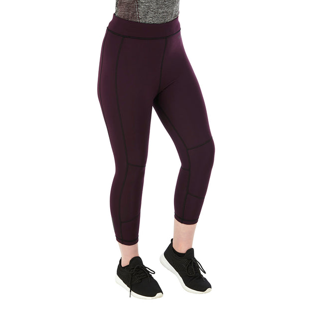 Raid Womens Reversible Performance Leggings - Deep Port/Black image 3